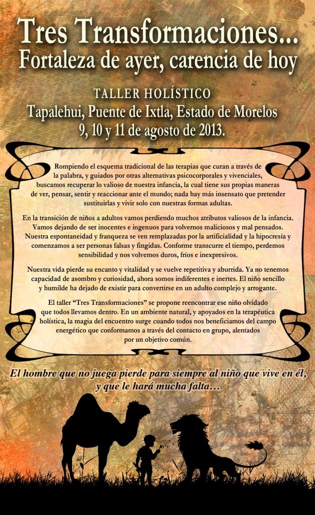 Cartel Promocional - Tres Transformaciones 00